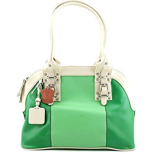 Madi Claire Carolyn Women Green Shoulder Bag