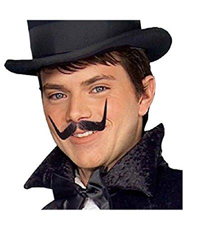 [Forum Novelties Men's Human Hair Villain Mustache, Black, One Size] (Dali Mustache Costume)