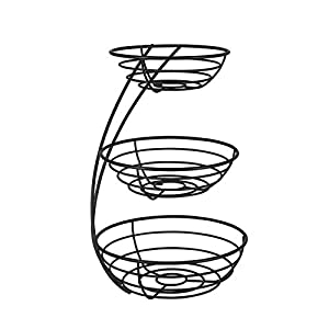 Spectrum Diversified Euro Arched Server Contemporary Stacked, 3-Tier Bowls for Modern Kitchen Counters, Sleek Fruit…