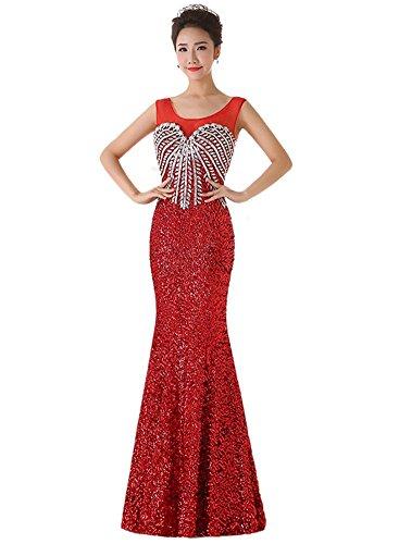 Damen Drasawee Damen Drasawee Schlauch Schlauch Kleid Kleid Rot Drasawee Rot aAq6xwY