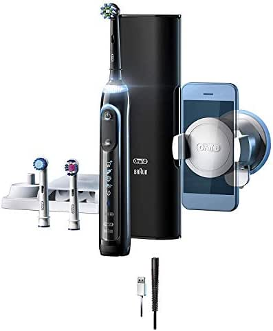 Oral-B Genius Pro 8000 Electronic Power Rechargeable Battery Electric Toothbrush with Bluetooth Connectivity, Amazon Dash Replenishment Enabled