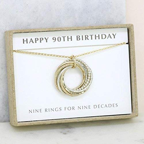 Amazon 90th Birthday Gift Necklace