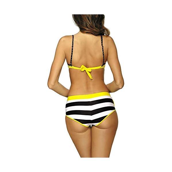 Yutdeng Costume da Bagno Sexy Donna Bikini Sets 3 Pezzi Push Up Imbottito Brasiliano con Pantaloncino Reggiseno Costumi…