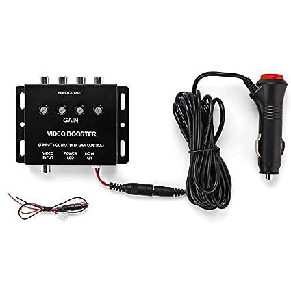 REARMASTER 4 Channel Car Video Splitter Amplifier for Car Overhead on