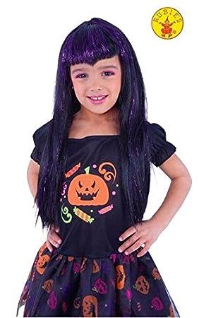 Rubies Peluca infantil de vampiresa traviesa Color negro y ...