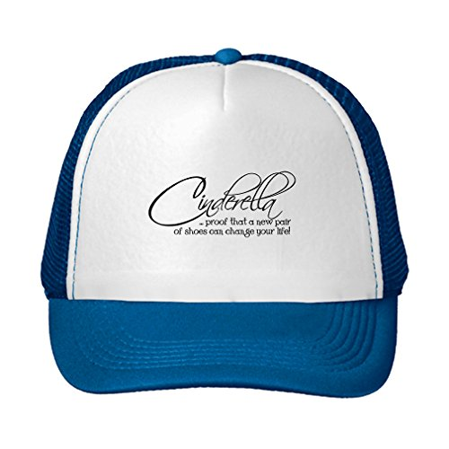 Speedy Pros Cinderella Proof That New Pair Shoes Change Your Life! Adjustable Trucker Hat Royal Blue from Speedy Pros