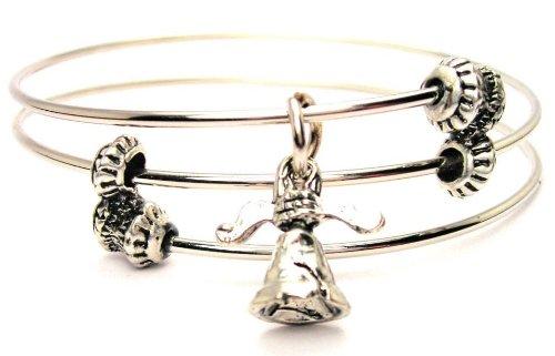 Liberty Bell Expandable Triple Wire Adjustable Bracelet