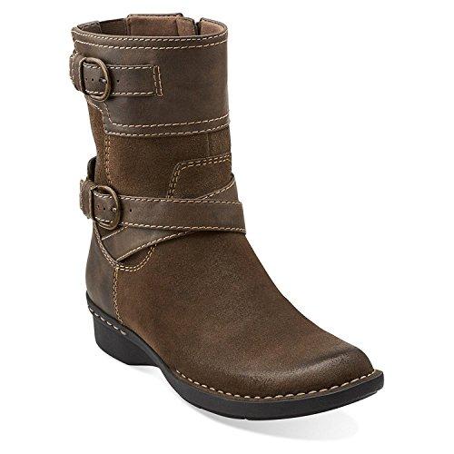 Clarks Visselpipa Ranch Womens Taupe Läder Boot 6,5 W Oss