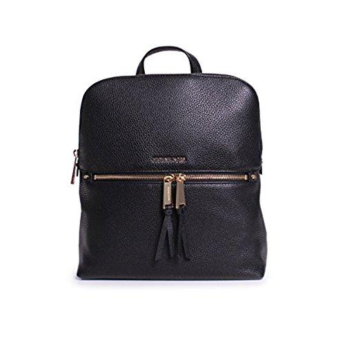 Michael Kors Rhea Zip Medium Slim Backpack in Black