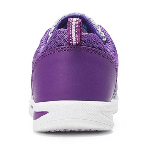 Schnür Wanderschuhe Atmungsaktives Damen Schnell Trocknend Mesh Violett Sommer Turnschuhe Eagsouni Wasserschuhe Sportschuhe wztqyd