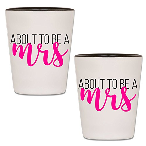 Bachelorette Shot Glass - About To Be A Mrs - Novelty Bridal Party Favor Accessories & Supplies - Drinking Gag Gift Shotglass For Bride To Be, Girlfriends & Bridesmaids (2)