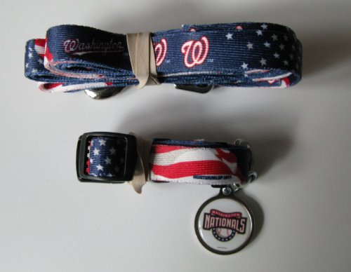Hunter Washington Nationals Pet Collar, Lead and ID Tag Combo Set, X-Small