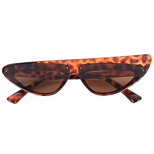 Sun Cat Frame Mujeres Sexy TOOGOO Leopardo de Gafas Gafas Shades Eye lujo Negro Sunglasses Travel CwqzI