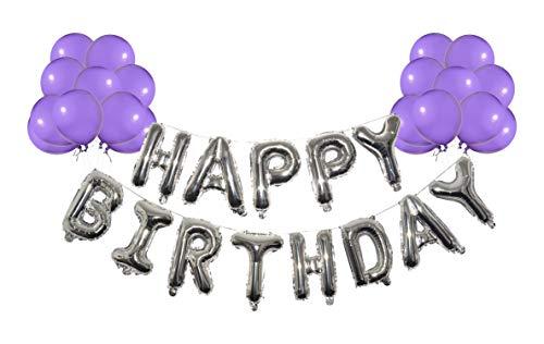 Happy Birthday Balloons -13 PCS Metallic Foil Hanging Balloon Letters 14