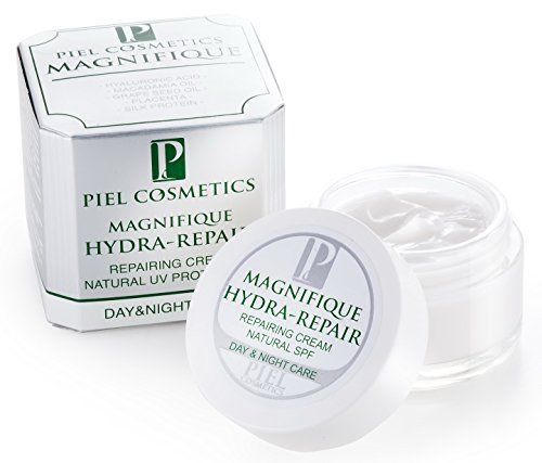 Piel HYDRA-REPAIR Face Moisturizer – 1.7OZ Day Night Hyaluronic Acid cream with Vitamins C and E, Macadamia oil, Grape and Seed Oil