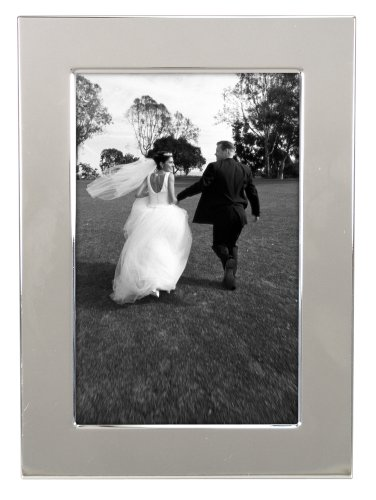 (Malden International Designs Wedding Engravable Picture Frame, 4x6, Silver)