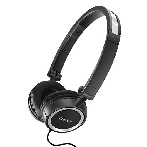 Edifier H650 Headphones - Hi-Fi On-Ear Foldable Noise-Isolating Stereo Headphone, Ultralight and Tri-fold Portable - Black Black Portable Stereo Headphones