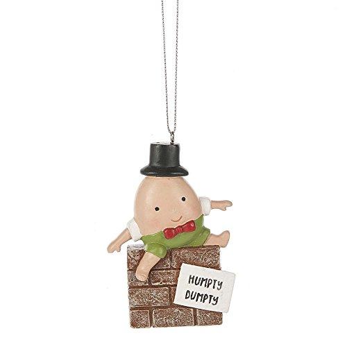 Humpty Dumpty Rhymes (Humpty Dumpty Nursery Rhyme 2 x 3.5 Inch Resin Christmas Ornament Figurine)
