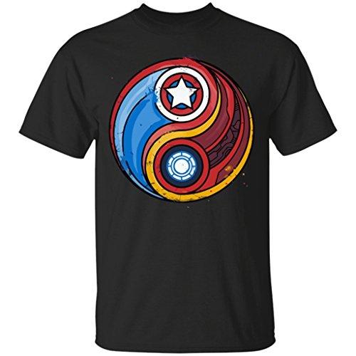 Ironman Shirt Civil Balance Yin Yang Marvel Avengers Tony Stark T-Shirt-Unisex (Iron Man Glow Arc Reactor)