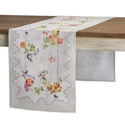 Maison d'Hermine Fruit d'hiver 100% Cotton Table Runner - Single Layer 14.5 Inch by 72 Inch. Perfect for Christmas