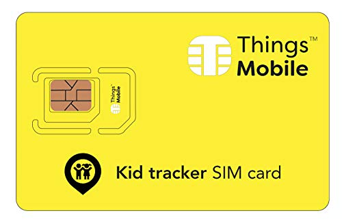 SIM Card for Kids GPS Tracker - Things Mobile - Global Coverage, Multi-Operator GSM/2G/3G/4G Network, No Fixed Costs, No Expiration Date, Competitive Rates. $25 Credit Included + Free $5 Credit