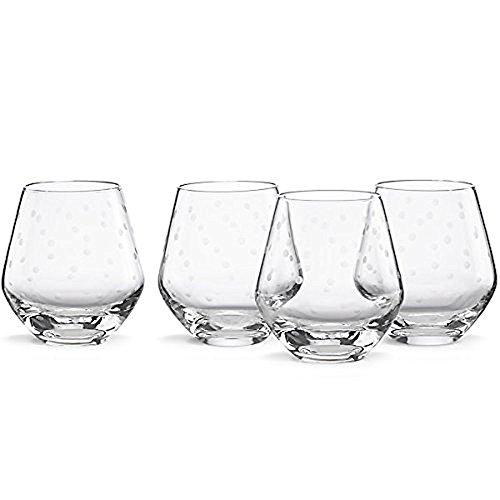kate spade new york Larabee Dot Stemless Red Wine Glass, Set of - Dot Glasses