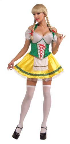 Forum Oktoberfest Beer Garden Girl, Yellow, One Size Costume (Beer Garden Girl Costume)