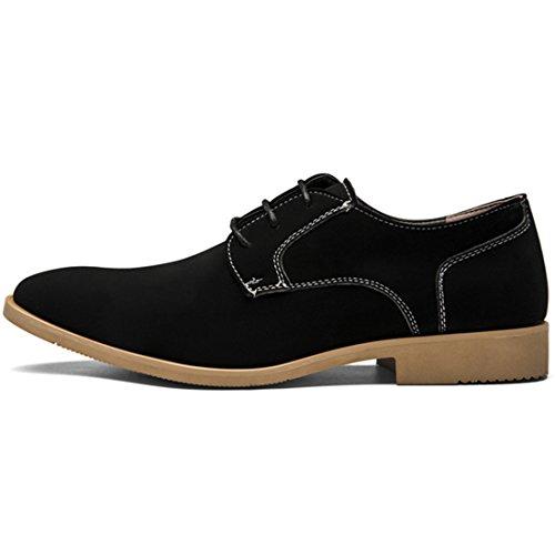 qianchuangyuan Chaussures de Ville pour Hommes Neuves Cuir PU à Lacets Bout D'Affaires Oxfords Chaussures Noir 3lVTxZfF1X