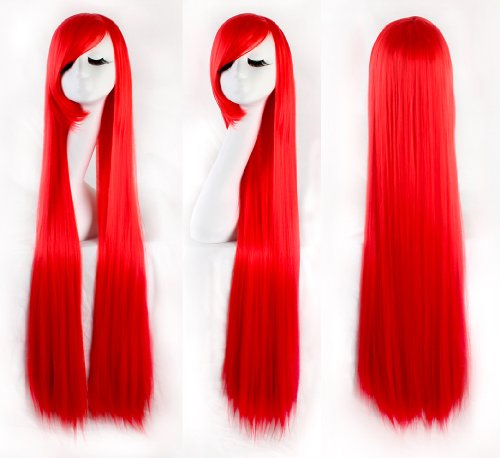 100 cm red wig - 4