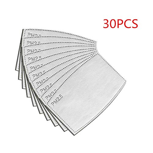 Tanke 30PCS PM2.5 N95 Dust Mask, Activated Carbon Filter Dust-proof Respirator Face Mask Protects from Dust, Allergy and Pollution, Influensa, bakterier Woodwork & Winter Outdoor Activities