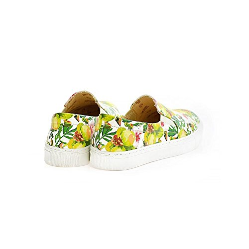 Leather Wvn4042 Women VN4000 Goby Flowers Sneakers Series Upper Slip Shoes UK on vqqpY5