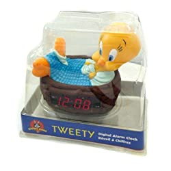 Vintage Looney Tunes Tweety Bird Alarm Clock