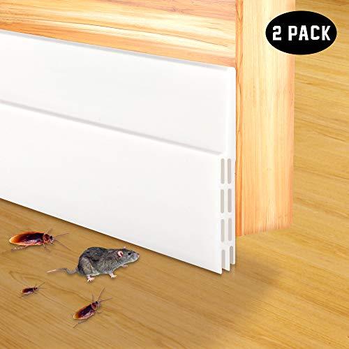 (2-Pack Door Draft Stopper, Self Adhesive Under Door Bottom Seal Strip Noise Stopper Insulator Door Sweep Weather Stripping 2