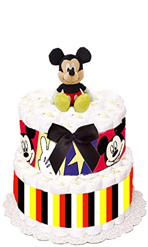 Mickey Mouse Diaper Cake - SMALL VERSION by Just For Your Baby Boutique