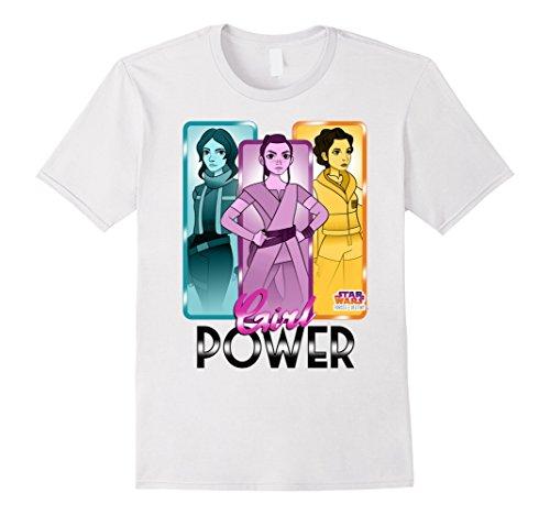 Star Wars Forces of Destiny Rey Leia Jyn Girl Power T-Shirt -