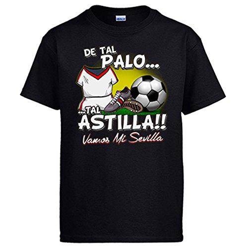 Diver Camisetas Camiseta De Tal Palo Tal Astilla Sevilla fútbol: Amazon.es: Ropa y accesorios