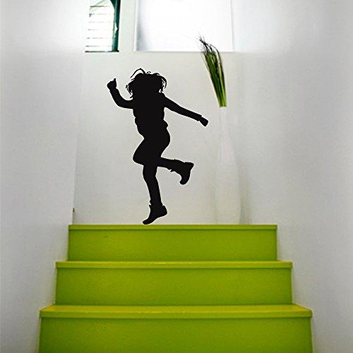 Wall Decals Dancing Man Hip-hop Decal Vinyl Sticker Street Dance Studio School Home Decor Bedroom Interior Window Decals Art Murals Chu1025