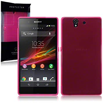 Funda Carcasa Gel para Sony Xperia Z Rosa Translúcido ...