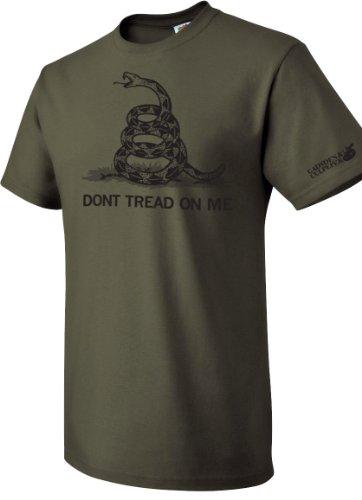 Military Green Don't Tread On Me T-Shirt - 2XL