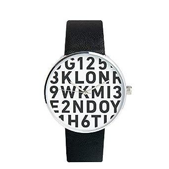 los angeles c9d5d 0e279 Amazon | KLON SERIAL NUMBER L 腕時計 黒ベルト シンプル ユニ ...