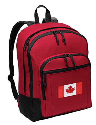 Canadian Flag Backpack CLASSIC Canada Bag School - Travel (Backpack Flag Canada Women compare prices)