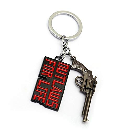 Value-Smart-Toys - New Game Red Dead Redemption 2 Keychain Key Ring 3D Gun Key Chain 4 Models Men Car Women Bag Jewelry Chaveiro llaveros