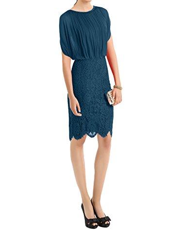 Tinte Braut Rot Ausschnitt Knielang Blau Spitze Abendkleider Etuikleider Brautmutterkleider Marie U La gxvq1p1