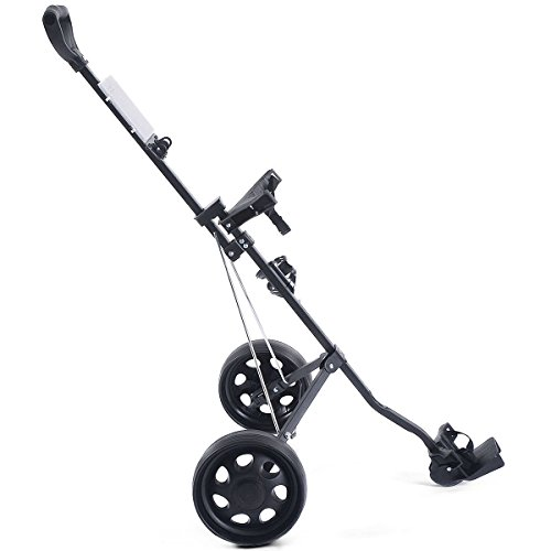 MD Group Golf Cart Holder Trolley Foldable 2 Wheels Push Pull Foldable Design Lightweight Equipment by MD Group (Image #4)