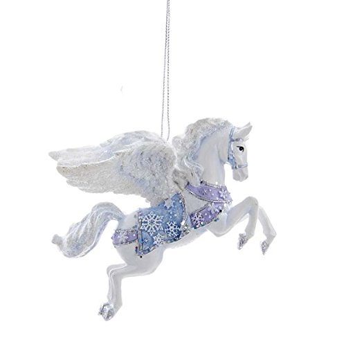 Frosted Pegasus Ornament