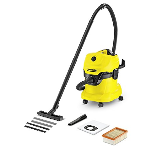 Karcher WD4 Multi-Purpose Wet Dry Vacuum Cleaner with 1800W Motor, Space-Saving Design