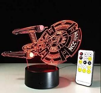 Luz de noche 3D, lámpara de noche, luz de noche, mesa Luz de ...