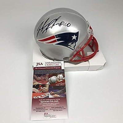 59b7299b Amazon.com: Autographed/Signed Josh Gordon New England Patriots Football  Mini Helmet JSA COA: Sports Collectibles