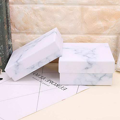 Werrox 4PCS Marble Pattern Vintage Gift Bag Earring Bracelet Jewelry Box Wedding Boxes | Model JWRLBX - 25 -