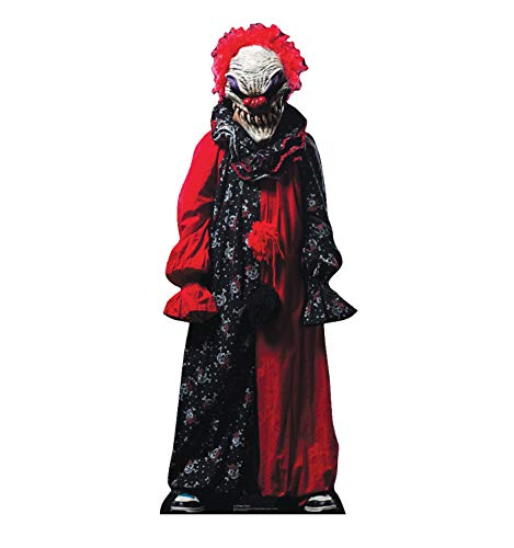 Advanced Graphics Creepy Clown Life Size Cardboard Cutout Standup -